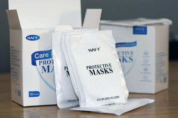 FFP2 NAFY Atemschutzmaske, 4-Lagen, BFE-Wert 99% plus
